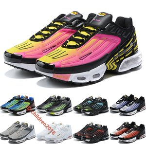 Air Cushion Plus 3 III Tuned Hyper Violet Men Running Shoes Wolf Grey Black Pimento Triple White Lemon Venom Outdoor Sneakers Size 40-45