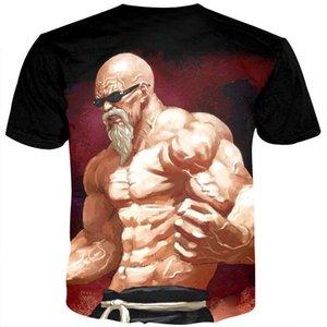 Summer T Shirts Men Anime Print Dragon Ball 3D T-Shirt Oogway Tees Master Roshi Men T shirt Streetwear Plus Size