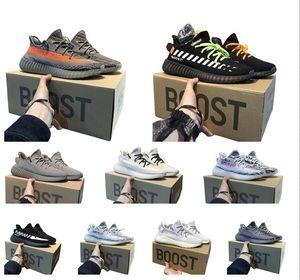 2020 Hot kanye west Cinder Runningyezzyyezzys350 V2 Tail Light Yeshaya Yecheil White Sport shoes Flax Linen Stylist sneakers