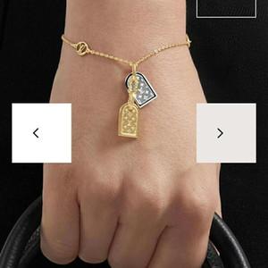 Hot style fashion design v-sign double tag engraved flower color bracelet ladies foreign trade bracelet