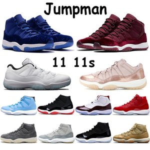 Jumpman 11 11s scarpe da basket allevate pantone concord heiress night maroon black OVO pink snake skin low legend blue cherry mens sneakers