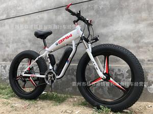 Alüminyum Alaşım Elektrikli Bisiklet Köpekbalığı 26-İnç 4,0 Lastik Kar Moped 27-Hız Akıllı Lityum Tramvay