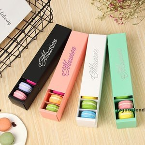 4 colors macaron packaging wedding party gift laser paper boxes 6 grids chocolates cookie packing box LX1712