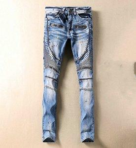 2020 Mens designer Jeans Mens d2 Distressed Zipper ripped Jeans Casual male Stylist Slim Biker Denim printing Pants
