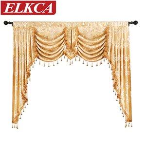 Mutfak için Yatak Odası Valance Perdeler Salon Dekorasyonu Pencere Perdeler 1 Adet Valance Avrupa Kraliyet Lüks Valance Perde
