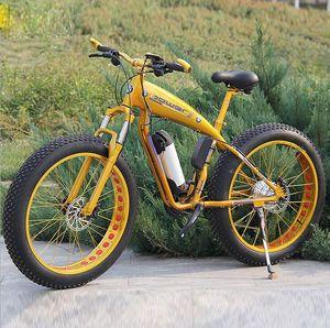 공장 공급 350W 500W 1000W 모터 26 인치 전기 지방 자전거 36V 48V 전기 자전거 26 인치 뚱뚱한 ebike
