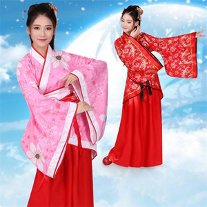 Chinese Traditional Woman Hanfu Ancient Oriental Fairy Floral Folk Dance Costumes Retro New Year Festival Tang Suit Dress