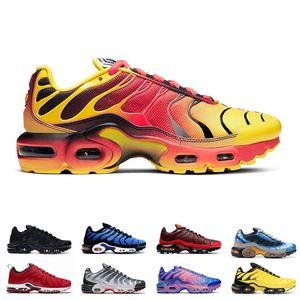 Nueva llegada del mens TN Plus SE zapatillas para hombre Negro Volt Solar Rojo Gafas 3D Pimento deportes al aire libre zapatilla de deporte clásica entrenadores tamaño 40-45