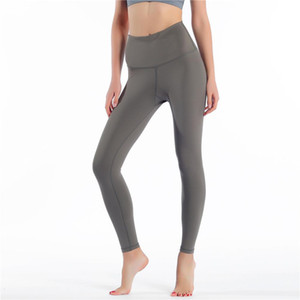 LU-32  lu lulu lemon lululemon  Fitness Athletic Solid Yoga Pants Donne Girls Girls High Vita in movimento Yoga Abiti da donna Sport Full Leggings Pantaloni da donna Allenamento