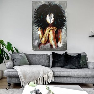Salon Modern Ev Dekorasyon Suluboya Kızlar Poster Baskılar Black Magic Kız Tuval Yağlı Boya Soyut Sanat Resimleri
