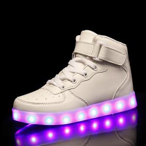 LED parpadeante adultos USB infantil de carga luminoso zapatos adultos de los niños LED parpadeante zapatos luminosos de carga USB