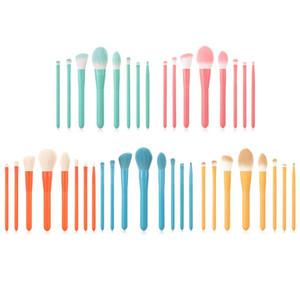 7 / 8pcs / Set Profesyonel Acemi Makyaj Fırçalar Seti Göz Farı Dudaklar Şekillendirici Fırça naylon Yün Fırçalar Makyaj Araçları Seti