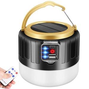 280W Solar Tent Portable Light Bulb Lanterna Camping LED Luzes ao ar livre USB recarregável Luz de Emergência Night presentes USB