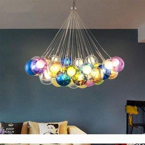 Colorful Luci del pendente della sfera di vetro di vetro appesa lampade a LED G4 96-265V luci infissi luminiare moderna LED