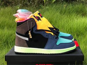 مع صندوق الرجال النساء 1 أحذية كرة السلة 1S الحيوية هاك فاخر مصمم مدرب الرياضة احذية رياضية