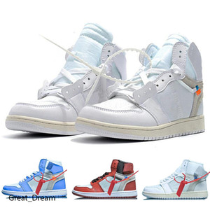 Mens basketball shoes 1s high og Obsidian Royal Toe UNC Tie Dye Pine Turbo Green Bloodline 1 men women trainers sports sneaker