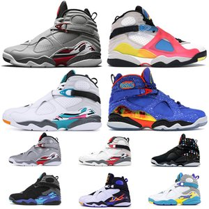 nike air jordan 8 retro 8 Zapatos Top Jumpman Errores 8 8s Doernbecher 8 para hombre de baloncesto de tamaño retro SE Blanca multicolor BEACH las zapatillas de deporte 13