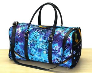 Astro Print Tie dye Handbag Duffle Sport Gym Bag.