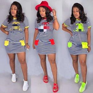 Summer mini dress one piece set sexy skinny dress minidress party evening club dress fashion summer letter print dresses klw1789