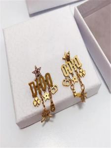 Super popular classic letter tassel diamond earrings designer earring designer jewelry women earrings