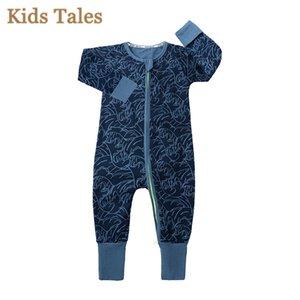 Yaz Erkek Bebek giyim Yenidoğan Tulum Uzun Kollu Pamuk Pijama 0-24 Ay Rompers Bebek Giyim çocuklar Ayaklı Pijama PQ133