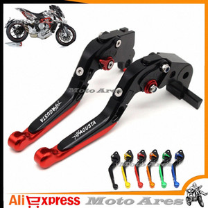 Motorcycle Accessories Adjustable Folding Extendable Brake Clutch Levers fits For MV AGUSTA Brutale 675 800 vRNT#