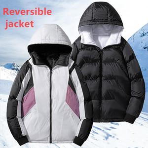 Sport Mantel Marke Winter-Männer Beidseitige zermürben Jacke beiläufige Mens-Down-Baumwolljacke Mantel Thick Parka Men Outwear heißen Verkauf