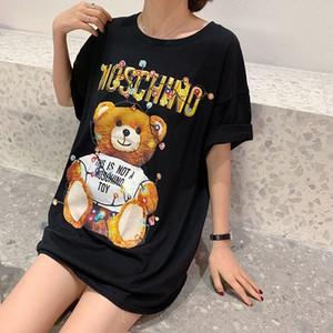 Alta qualità lampadina litte orso classico lettera maglietta del fumetto Tshirt Moda outdMens magliette delle donne abbigliamento casual in cotone Tee Top Man