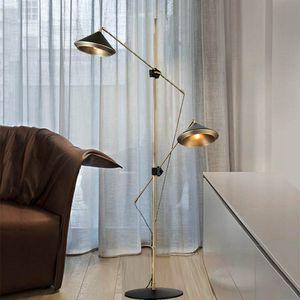 Modern Luxury metallo Horn Floor Lamp casa soggiorno sala da pranzo Accanto regolabile da terra a luce FA078