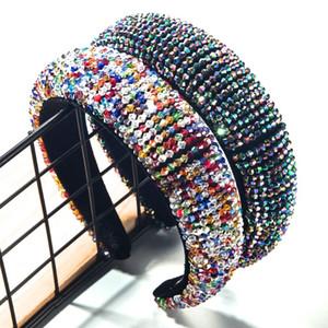 Vente Hot or Velvet Bandeau pour les femmes de luxe INS main de perles serre-tête filles éponge à bords larges serre-tête en gros