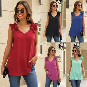 Womens Tops And Blouses Summer Sleeveless Shirt Tops V-neck Fashion Office Blouse Women Casual Tank Top Femme Blusas Mujer 2020 Y200622