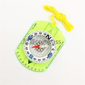 Compass PMM Bússolas vidro Aorganic verdes Observe Localização Régua Círculo Navegação Camping pendurados corda Indicador Pointer 5 8NX C2
