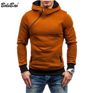 Bolubao Männer Hoodies Sweatshirt Frühling Marke Solid Color Fleece Anzug Hip Hop Zipper Pullover Männer mit Kapuze Sport EU-Größe