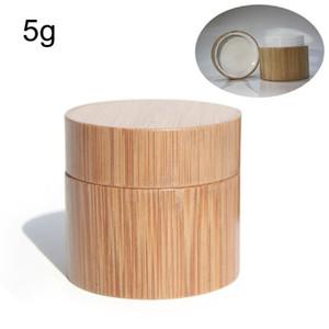 Rodada Bamboo creme Garrafa Mulheres Cosmetic Jar recarregáveis creme facial Loção recipientes de armazenamento