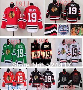 Nombre de encargo 2014 Chicago Blackhawks Jersey # 19 Janathan Toews Jersey C Patch, 100% logoes imbroidery stiched, envío rápido S-6XL