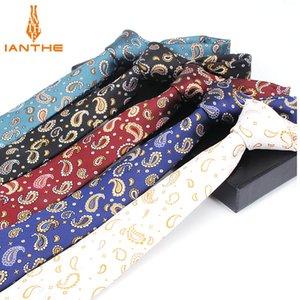 2020 Fashion Mens Ties Narrow Neckties 6cm Classic Paisley Tie for Men Formal Business Wedding Suit Neckwear Jacquard Woven Ties