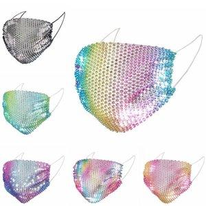 Алмазная маска моды Bling маска для женщин New Net Bottom Hollow цвета с бриллиантовым Декоративная Маска для лица