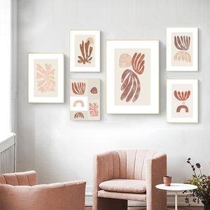 Art Poster Recados Henri Matisse Retro pintura abstrata em tela Posters Neutral Prints Picture Recados moderna do quarto Home Decor