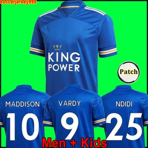 Tailândia Leicester camisa de futebol 20 21 camisa de futebol CITY 2020 2021 VARDY camiseta NDIDI MADDISON maillot de foot uniform Men + kids kit