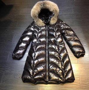 2020 Brand women Winter Collection Winter Women Down Coat Down Parka 100% Real Raccoon Fur Coat for Women in European Style