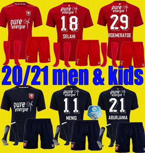 Men Kids 2020 2021 Twente Enschede FC Soccer Technys Kit 20 21 Maillot de oep Home Всюда Мениг Селахи Абурия Roemeratoe Футбольные рубашки