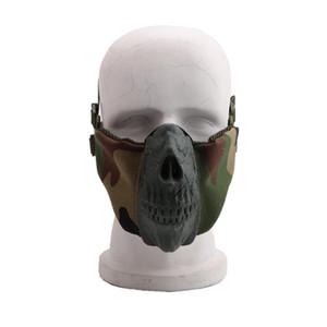 Halbe Gesichtsmaske Tactical faltbare Hälfte Gesicht Stil komfortable verstellbare Schutzmasken LJJA5770