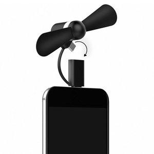 Cep telefonu Fan Soğutucu Cep telefonu yaz USB Soğutma Fanları Iphone Android Mikro Hanldheld için Taşınabilir 2 1 Mini yumuşak telefon Fan