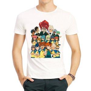 이나 즈마 일레븐 T 셔츠 여름 반소매 화이트 색상이나 즈마 일레븐 로고 T 셔츠 티셔츠 최고 t- 셔츠 힙합 Inazuma (11) T 셔츠