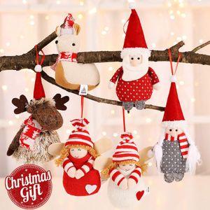Рождественские елки Подвеска ангел плюшевые куклы котелок дерево кулон украшение Главная Мультфильм котелок