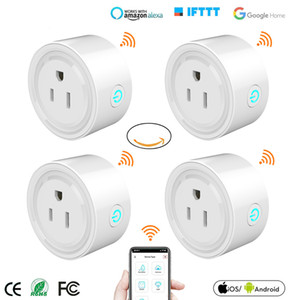 Mini US Wifi collegamento intelligente Timing presa di corrente Wireless Voice Smart Control Socket Lavora con Alexa Home page di Google Tuya APP