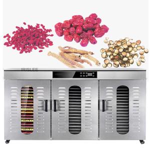 aço inoxidável Food Dehydrator frutas vegetais máquina de secagem Snacks carne seca Commercial 60 Tiers Food Secador de 220V