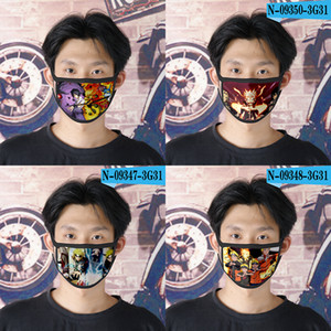 2020 Новый 9 Designs Наруто шелк льда солнцезащитных мод 3D печатные ткани маска дети Anti-пыли Washableface однополых масок Китай оптовый