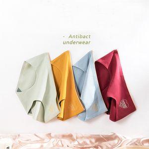 3pcs / sac Nouveaux produits pur coton Aucune trace de brevet Amour graphène antibactériennes Crotch Triangle taille Sexy Lady Cotton Panties
