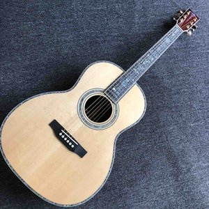 Grand 39 Inch Custom OOO Solid Spruce Top Acoustic Guitar All Abalone Binding Ebony Fingerboard Guitar Rosewood Back Side Free Shipping